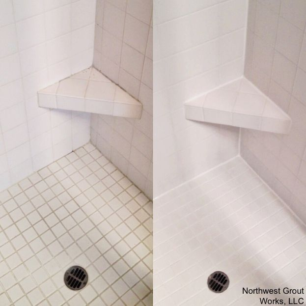 How To Regrout A Shower Tile Painted
