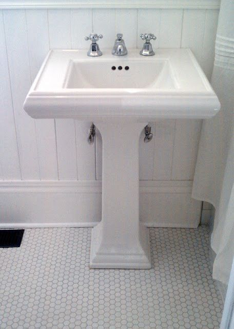Kohler Memoirs Pedestal Sink Period Details We Brought In Throughout The Bathroom