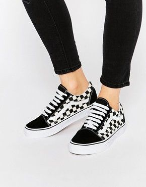Vans - Old Skool - Baskets motif damier | Tenis | Chaussure ...