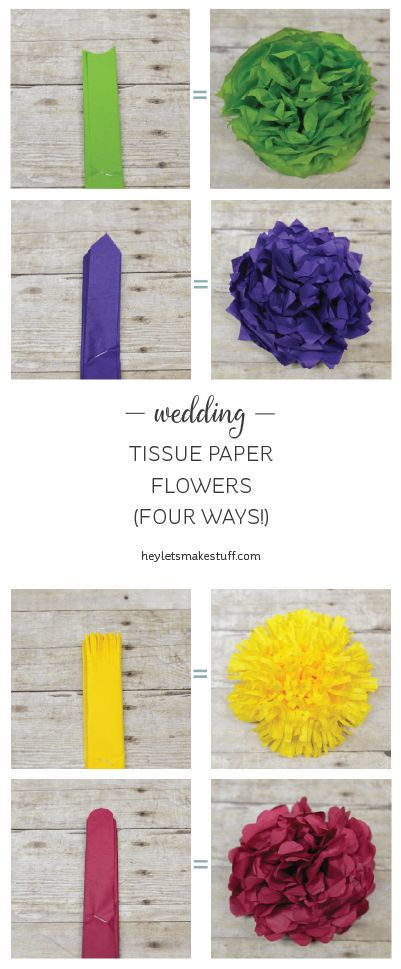 Learn how to make four different types of tissue paper flowers learn how to make four different types of tissue paper flowers they can make a gorgeous wedding centerpiece without breaking the bank mightylinksfo