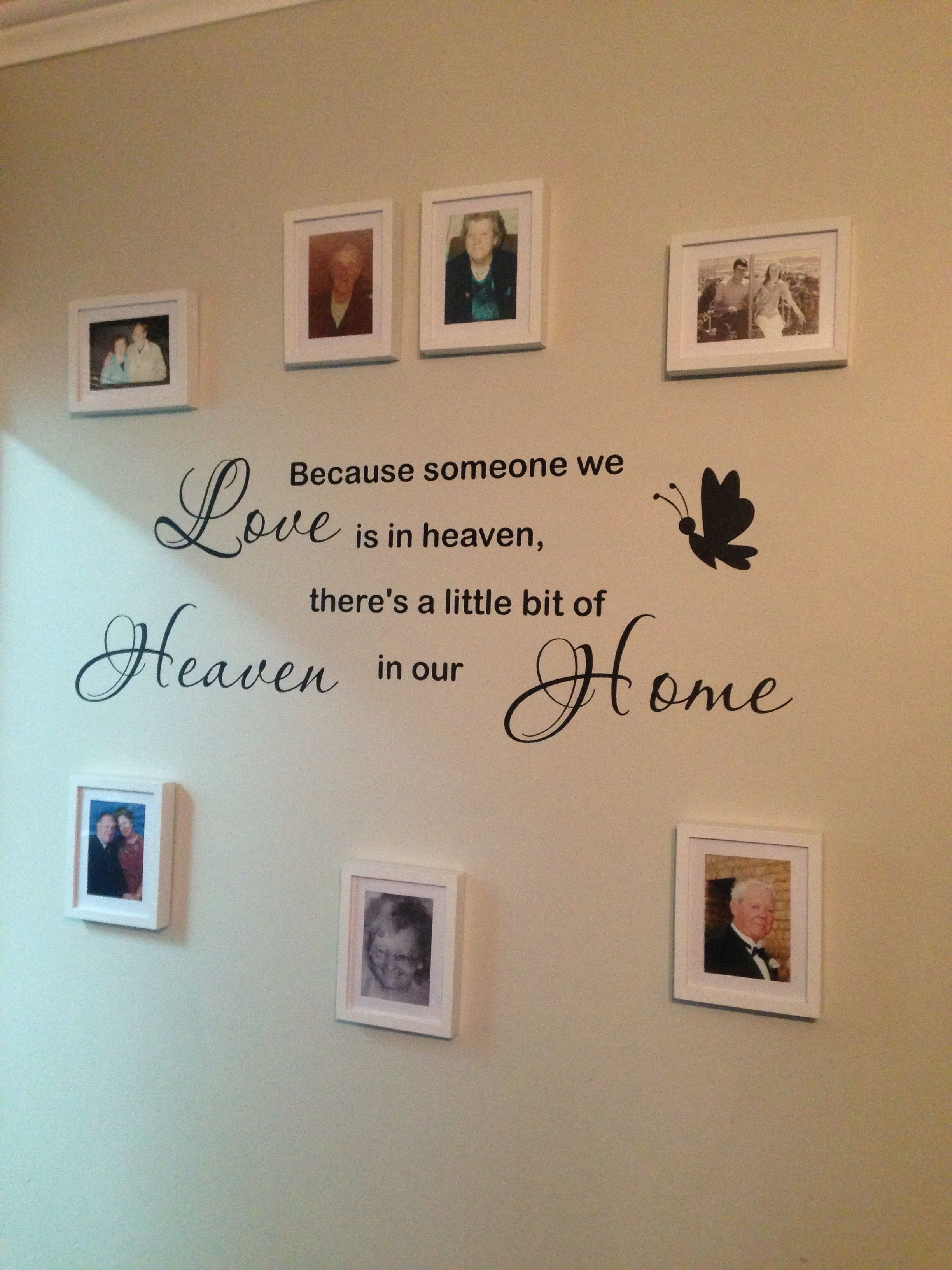 My Memorial Wall Memory Wall Family Wall In Memory Of Dad