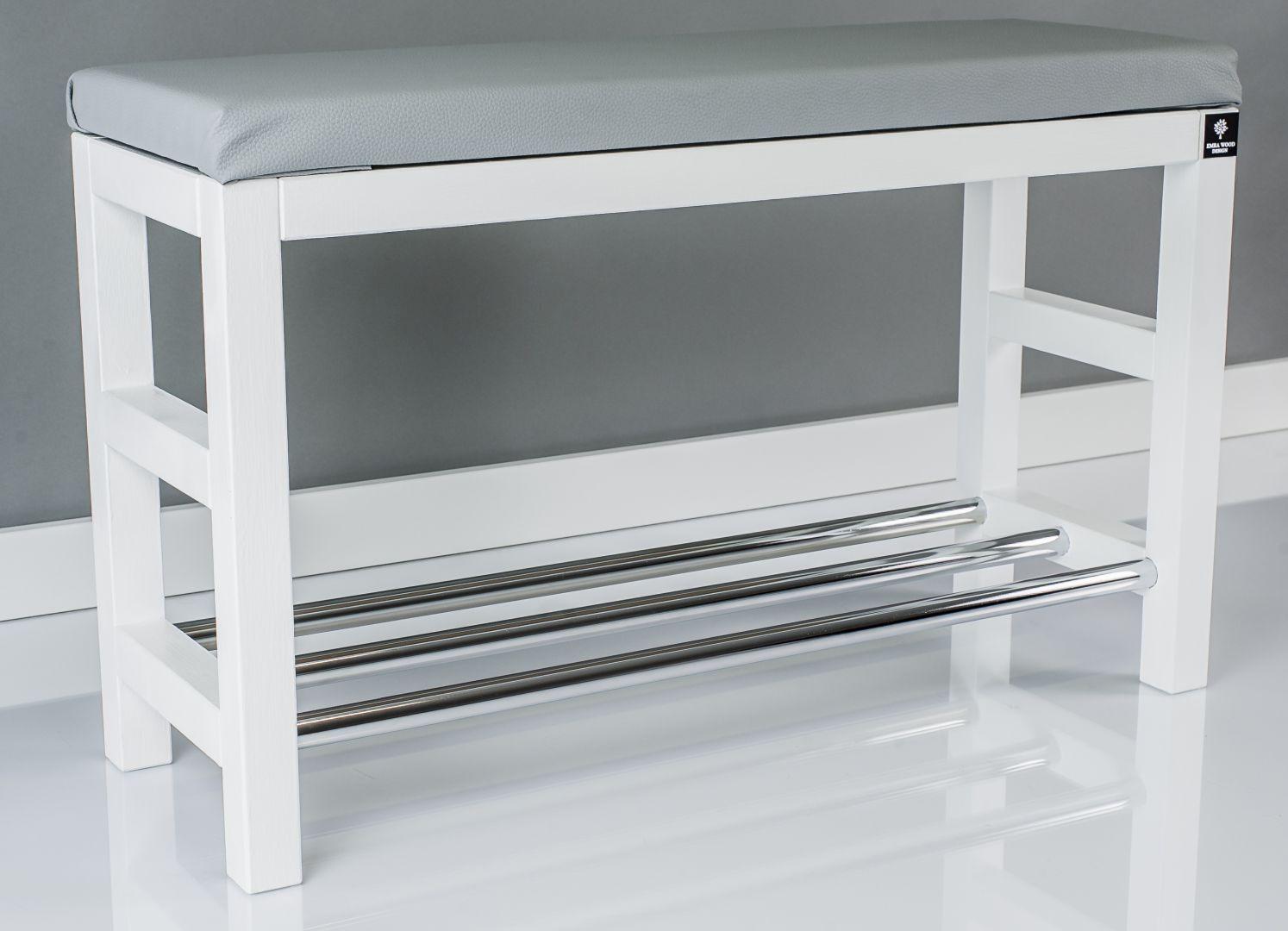 Regal Szafka Na Buty Bialy Z Siedziskiem Popielatym Drewno Lite Rbs 15 Www Emrawood Pl Home Decor Furniture Changing Table