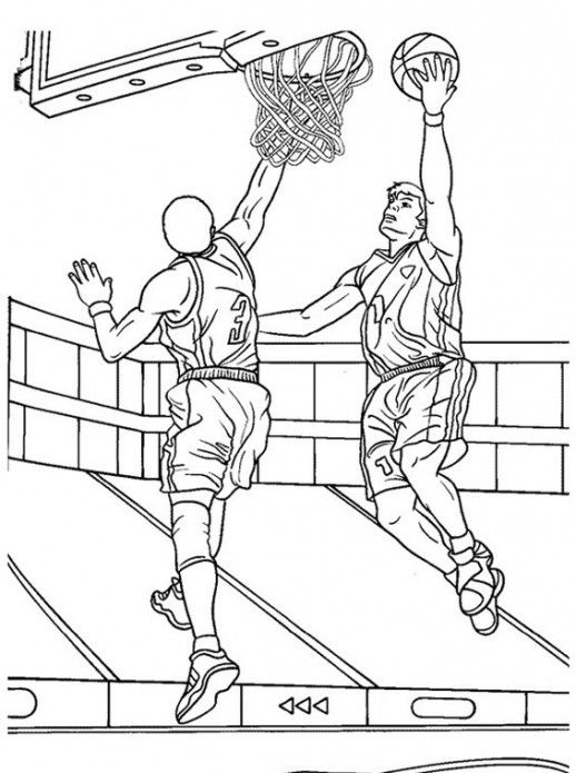 basketball game coloring pages for adults