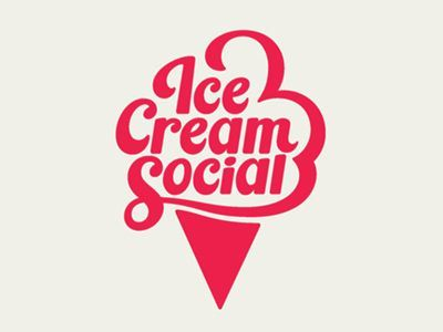 Cream Social Ice Cream Social logo. I think it would of been even better if he put the diamond pattern in the cone to break up that solid triangle.Ice Cream Social logo. I think it would of been even better if he put the diamond pattern in the cone to break up that solid triangle.