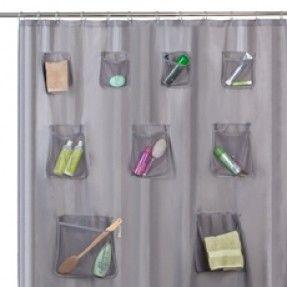 Pocket Shower Curtain