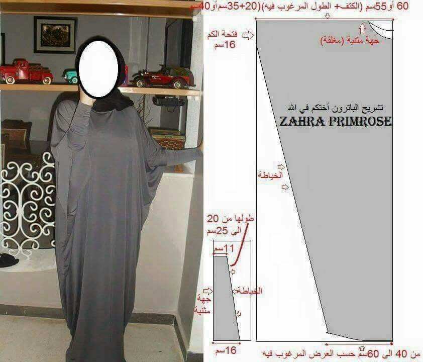 Butterfly Abaya with fitted sleeves-measurements | Women\'s Fashion ...