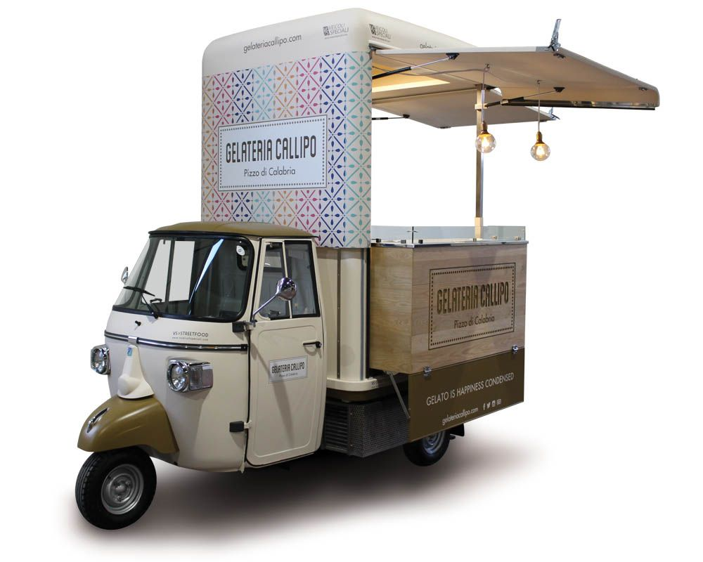 mobile ice cream shop on piaggio ape v curve nel 2019. Black Bedroom Furniture Sets. Home Design Ideas