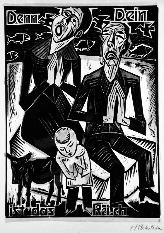 Max Pechstein, woodcut