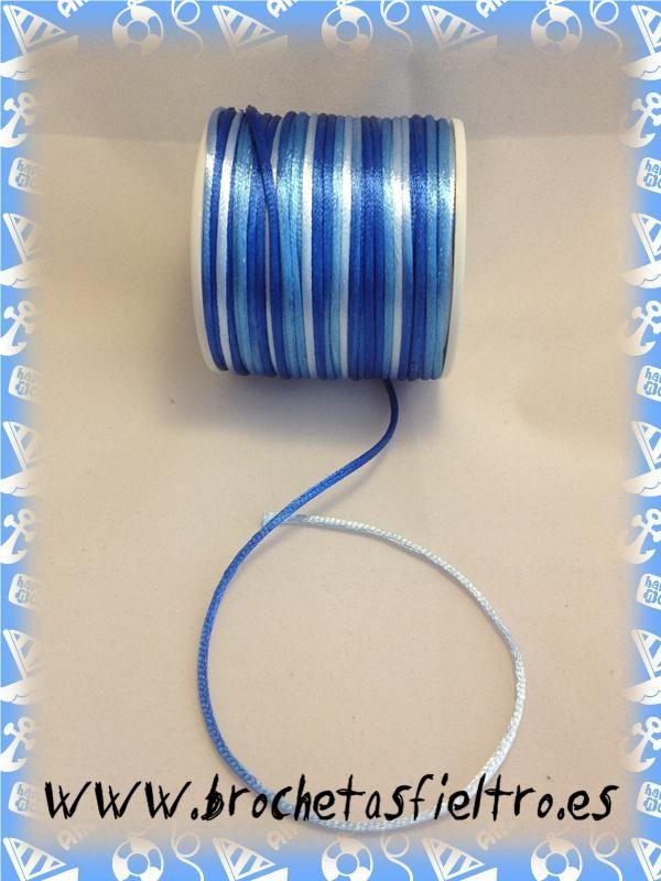 Cola de Raton Multicolor Azul 3mm (POR METRO) 0,35€