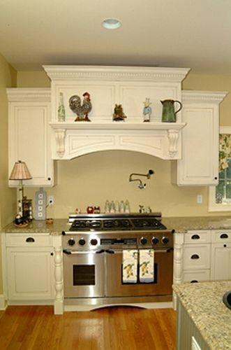 White Raised Hearth Kitchen Accessories Decor Kitchen Remodel Kitchen Range Hood