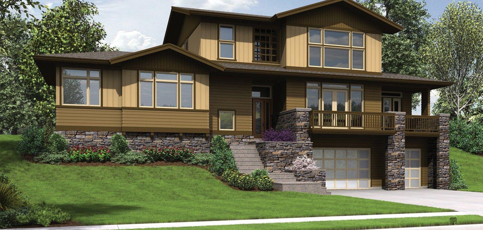 Mascord House Plan 22197 The Renicker Modern style