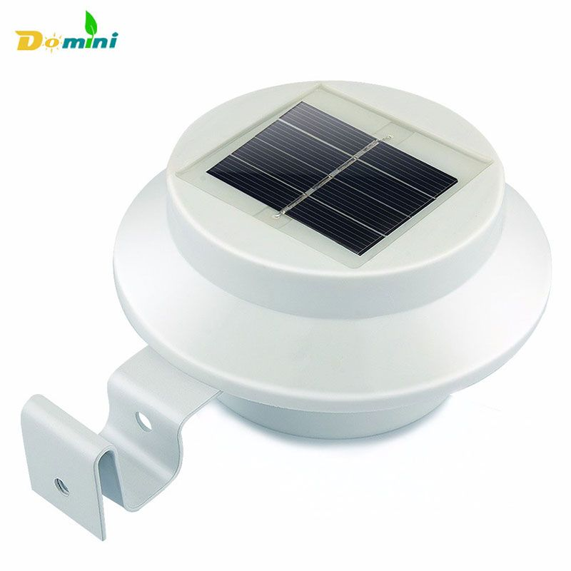 New 3 LED Solar Light Power Fence Light Wall Lamp Outdoor