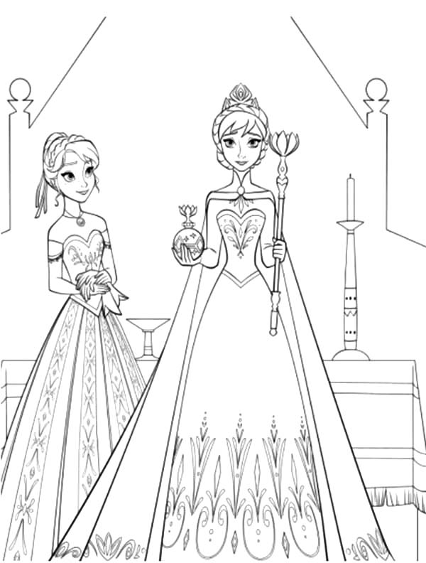 Princess Anna Standing Beside Queen Elsa Coloring Pages Best Place To Color Elsa Coloring Pages Elsa Coloring Disney Princess Coloring Pages