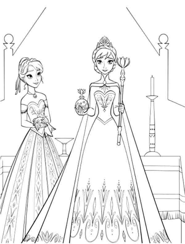 Princess Anna Standing Beside Queen Elsa Coloring Pages Best Place To Color Elsa Coloring Pages Elsa Coloring Coloring Pages For Girls