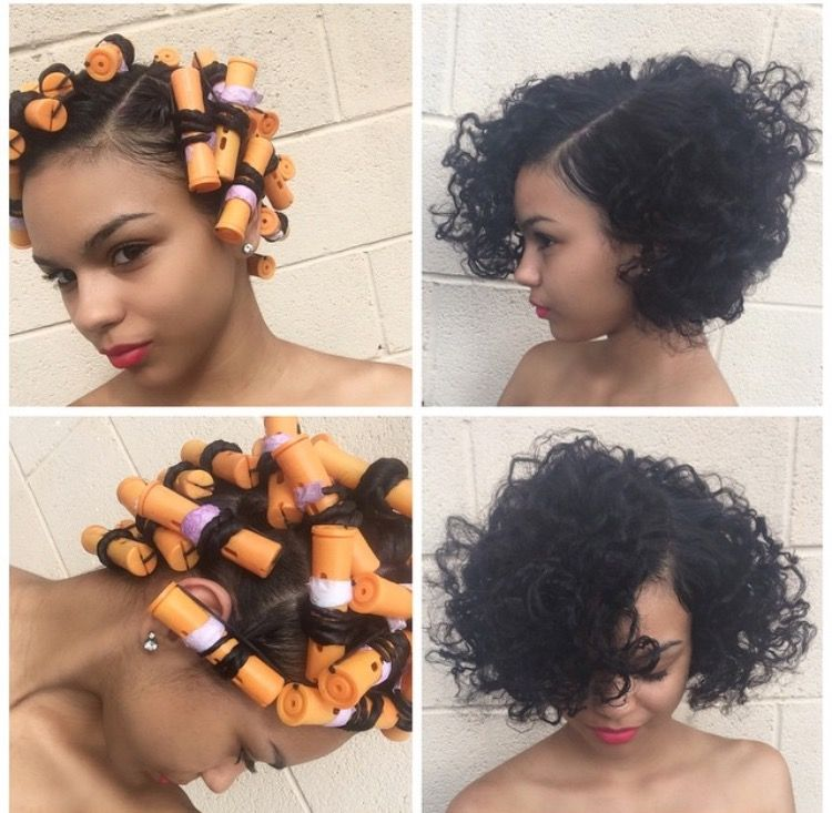 relaxed roller hairstyles