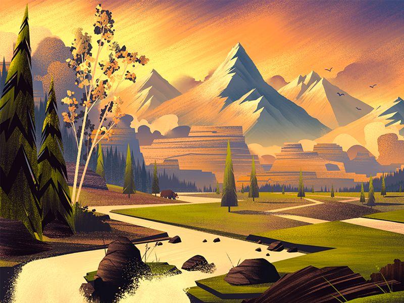 Landscape Illustration Vector Free: 2014 LabelExpo Americas