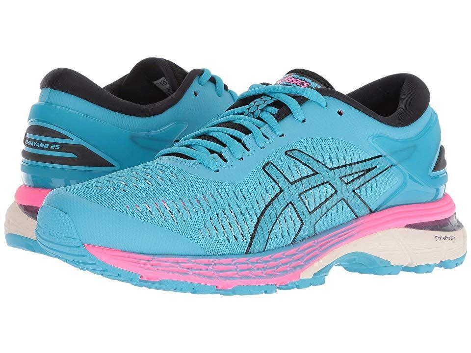 Asics Gel Kayano R 25 Women S Running Shoes Aquarium Black Running Shoes Asics Running Women