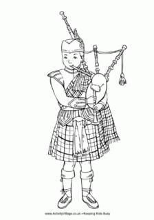 Scotland Coloring Pages Scotland