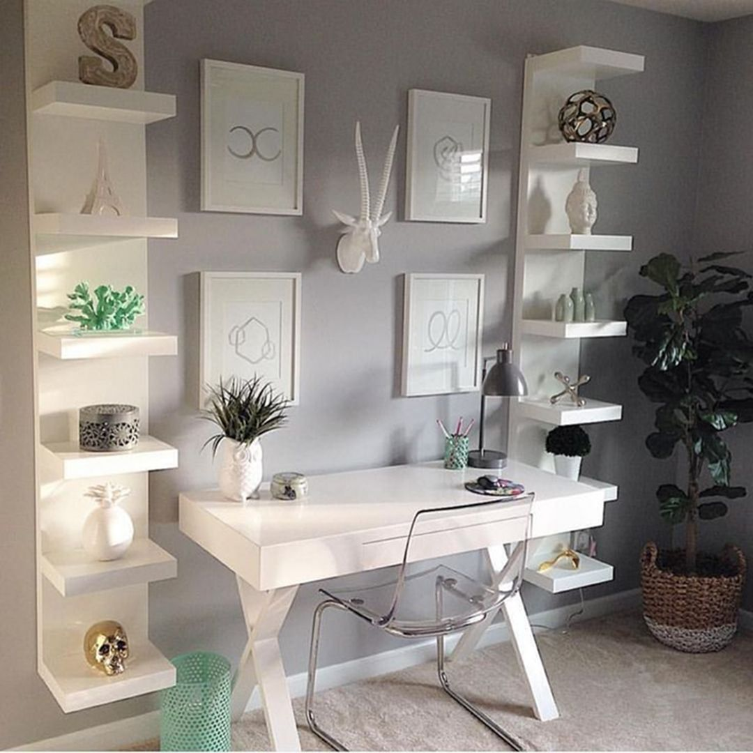 35 Awesome Small Home Work Office Decorating Ideas in 2020