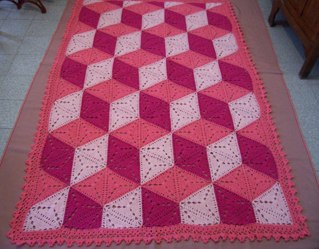 Manta de triángulos | Pinterest | Manta, Disponible y Patrones