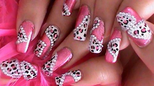Princess Pink Leopard Nail Art Design | Nail Art | Leopard