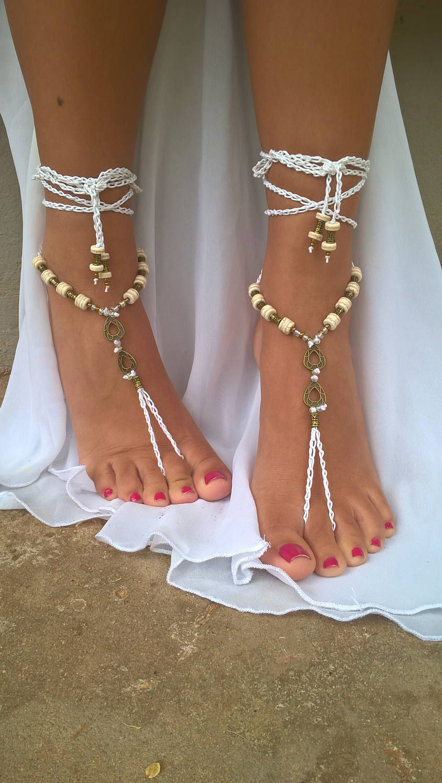 Wedding Barefoot Sandals Brides Shoes Beach