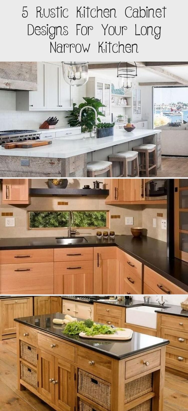 5 Rustic Kitchen Cabinet Designs for your Long Narrow Kitchen # #DesignsforyourLongNarrowKitchen, #Interior Design #Modularkitchendesign #kitchendesignVideos #Luxurykitchendesign #kitchendesignWall #Cottagekitchendesign #longnarrowkitchen