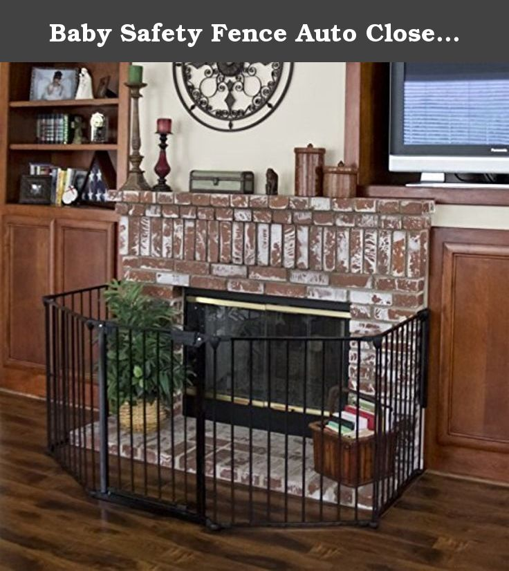 Baby Safety Fence Auto Close Hearth Gate Bbq Fire Gate