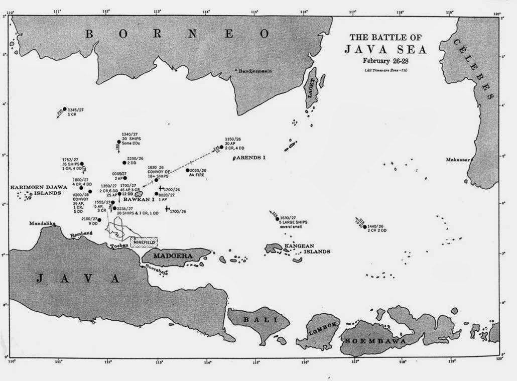 Map of the battle of java sea naval history and heritage command map of the battle of java sea naval history and heritage command image publicscrutiny Images