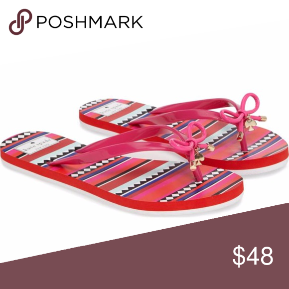 bb1778ba6 New KATE SPADE Pink Nova  flip flop size 8 New PINK KATE SPADE NEW YORK Nova   flip flop size 8 A sweet bow with signature logo hardware tops the rubber  ...