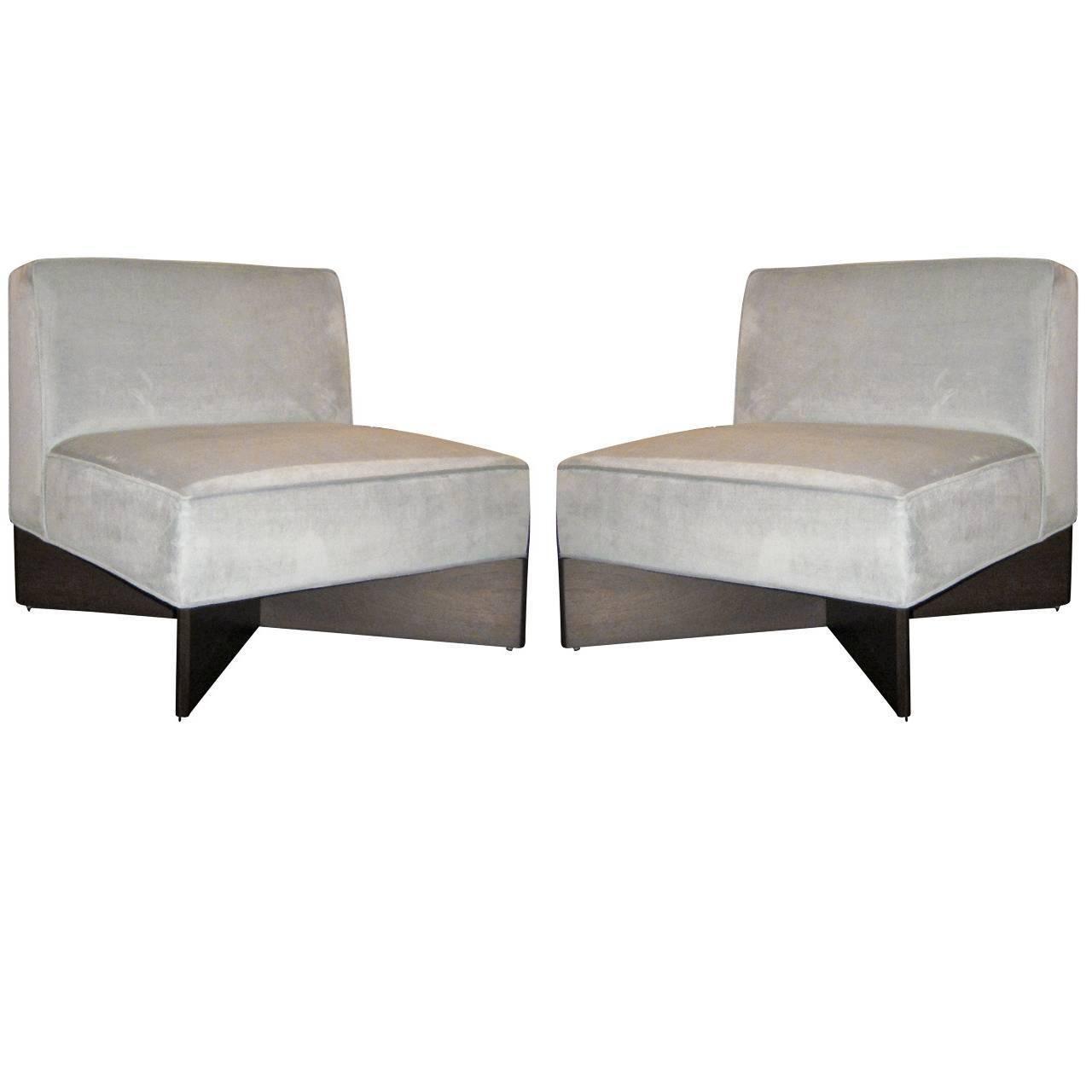 Fabulous Pair Of Pierre Guariche Slipper Chairs Chairs Slipper Theyellowbook Wood Chair Design Ideas Theyellowbookinfo