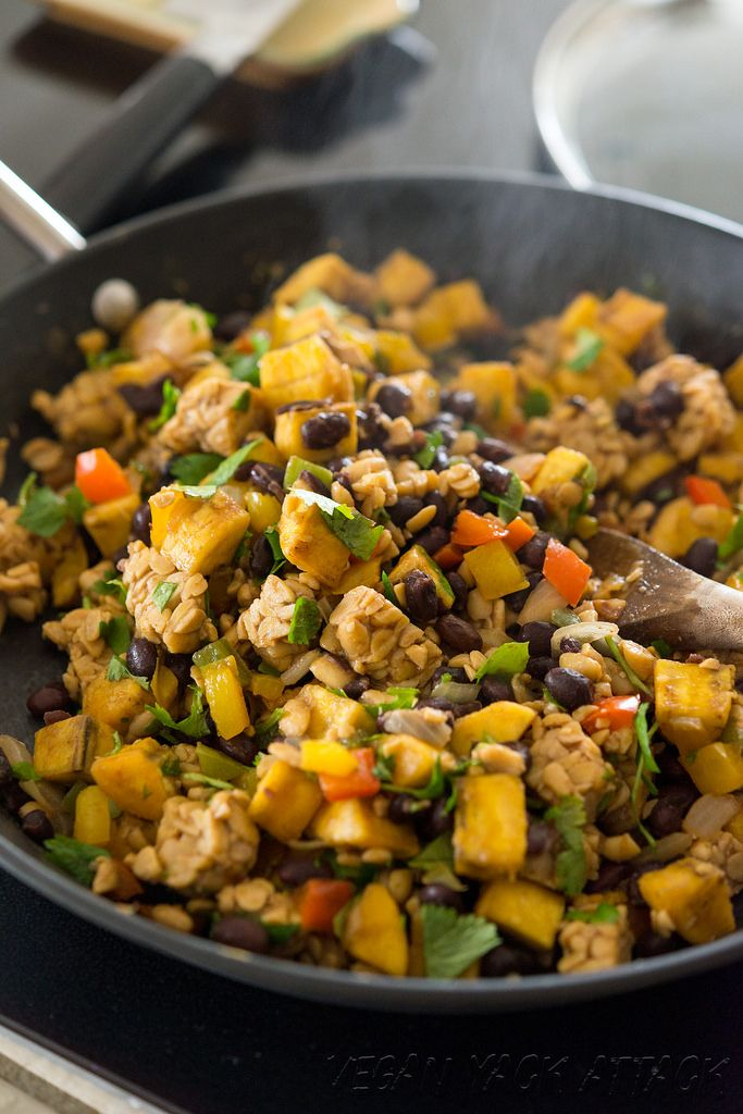 Plantain Tempeh Breakfast Hash