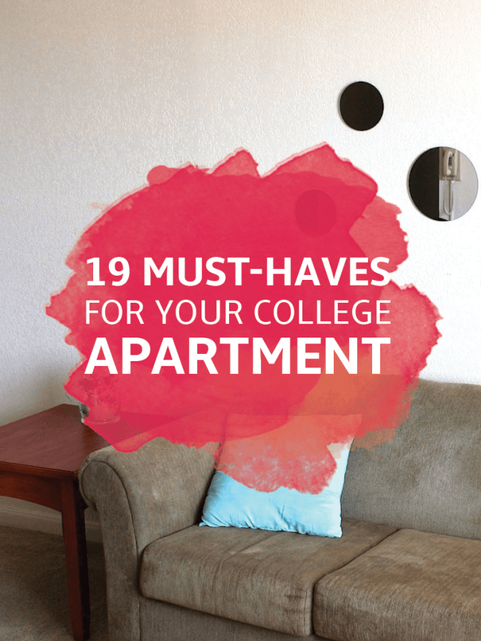 24 Essentials for Your College Apartment - Kitchen, Room & Decor ...