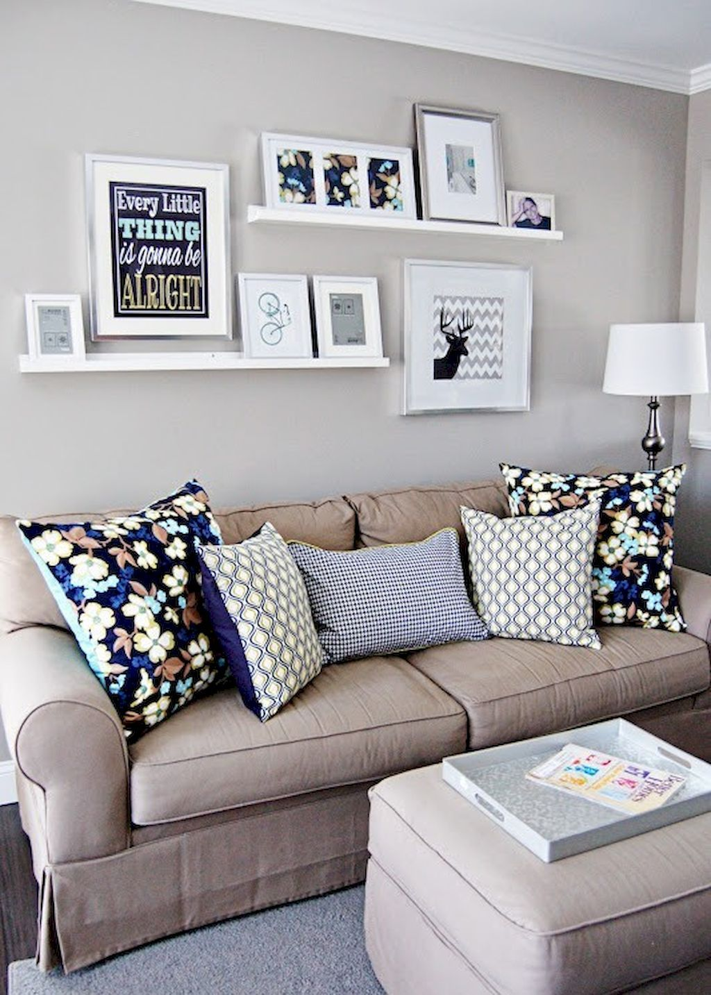 Decorating Small Living Room Wall Decor Ideas Above Couch Gallery