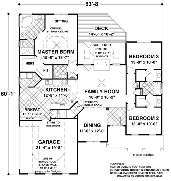 The Falls Church 8450 3 Bedrooms And 2 5 Baths The House Designers Ranch House Plans Craftsman Style House Plans House Plans