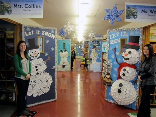 White Christmas Classroom Decorations : Ideas to decorate school hallway for christmas