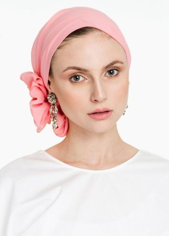 Yom Yom Headscarf - Pink Chiffon #tieheadscarves