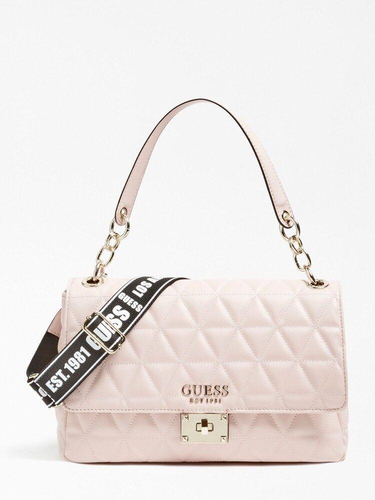 GUESS Handtasche 'Laiken' in schwarz   ABOUT YOU