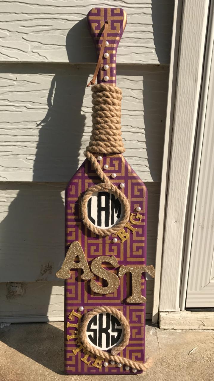 Alpha Sigma Tau Paddle from the Zeta Tau Chapter AST sorority Greek Life