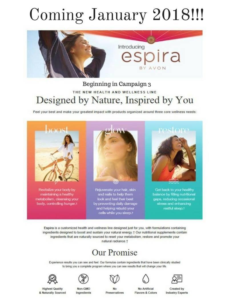 Espira!!! Avon's new health and wellness line starting January