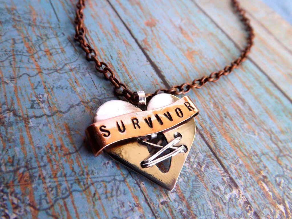 Open Heart Surgery Survivor Banner Necklace This Custom