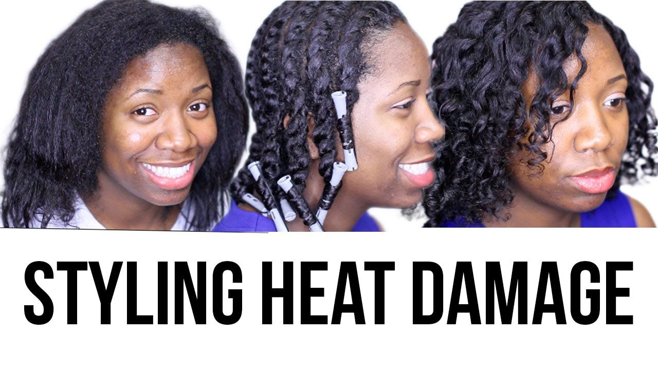How To Style Heat Damaged Natural Hair Natural Hair Styles Heat Damaged Natural Hair Natural Hair Journey Tips