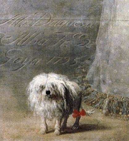 The Duchess Of Alba S Maltese Dog Detail Francisco De Goya Y