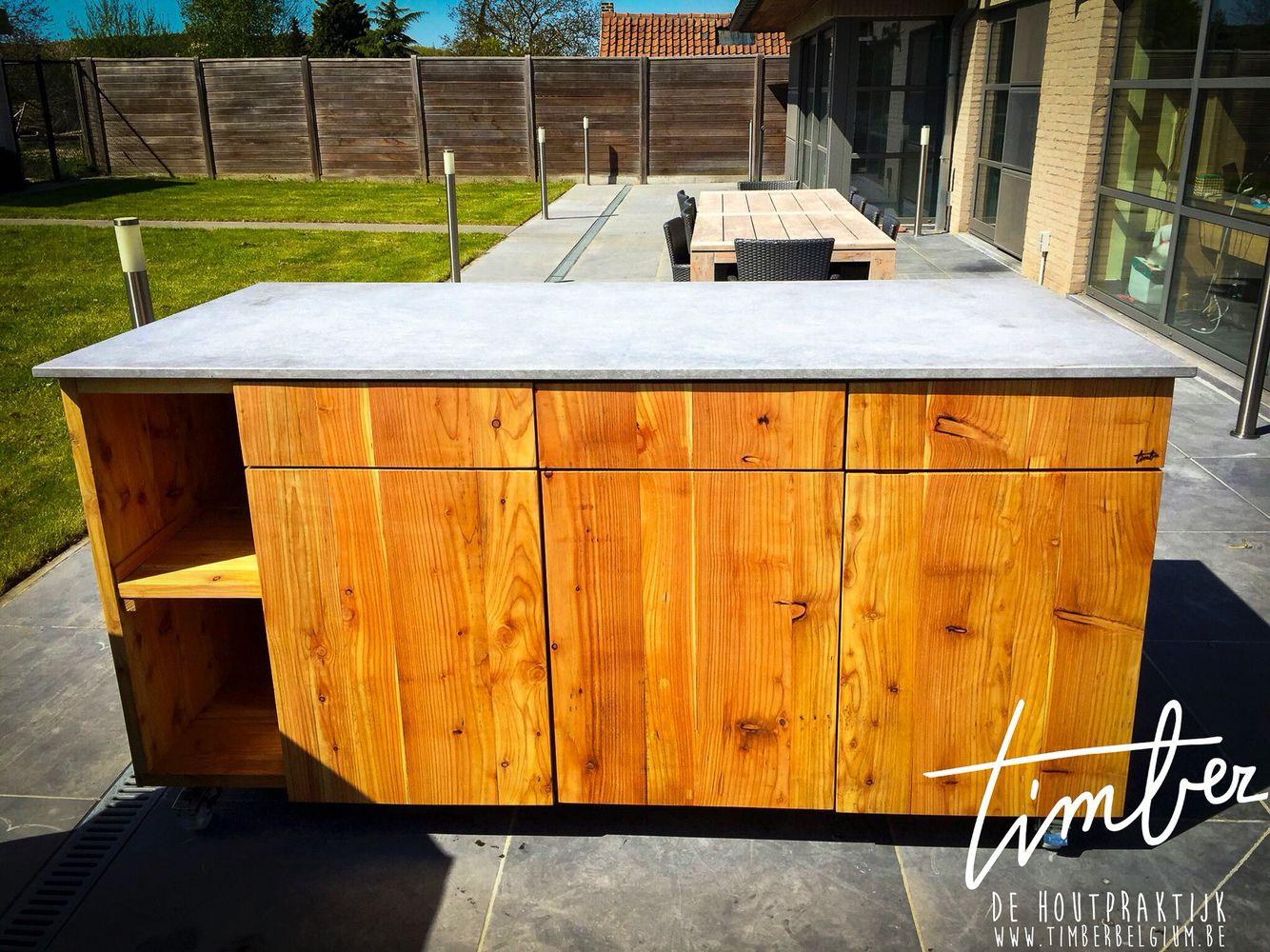 #OutOfOfficeIsland outdoor Kitchen by Timber - De Houtpraktijk. www.timberbelgium.be