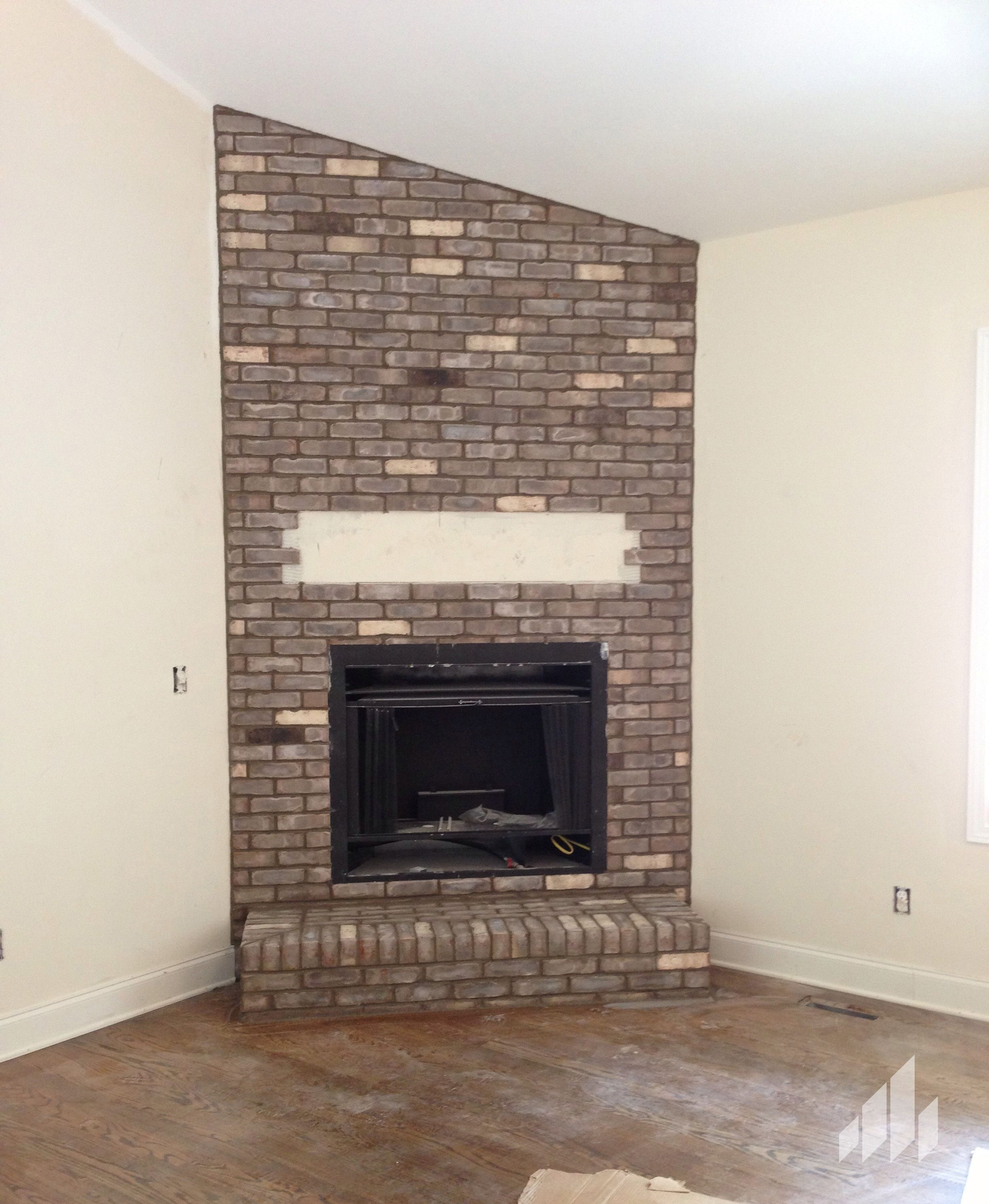 cape lookout thin brick fireplace building your home