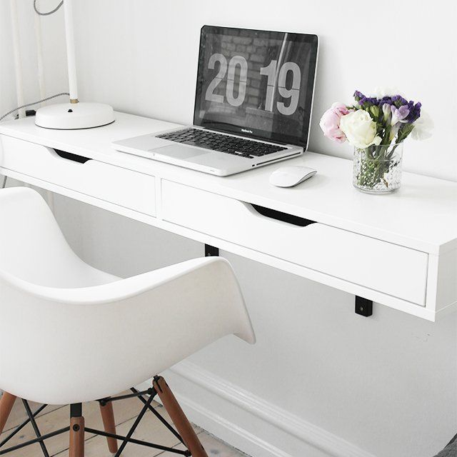 small space powerhouse the 10 best wall mounted floating desks in rh pinterest com ikea wall desk organizer ikea wall desk white