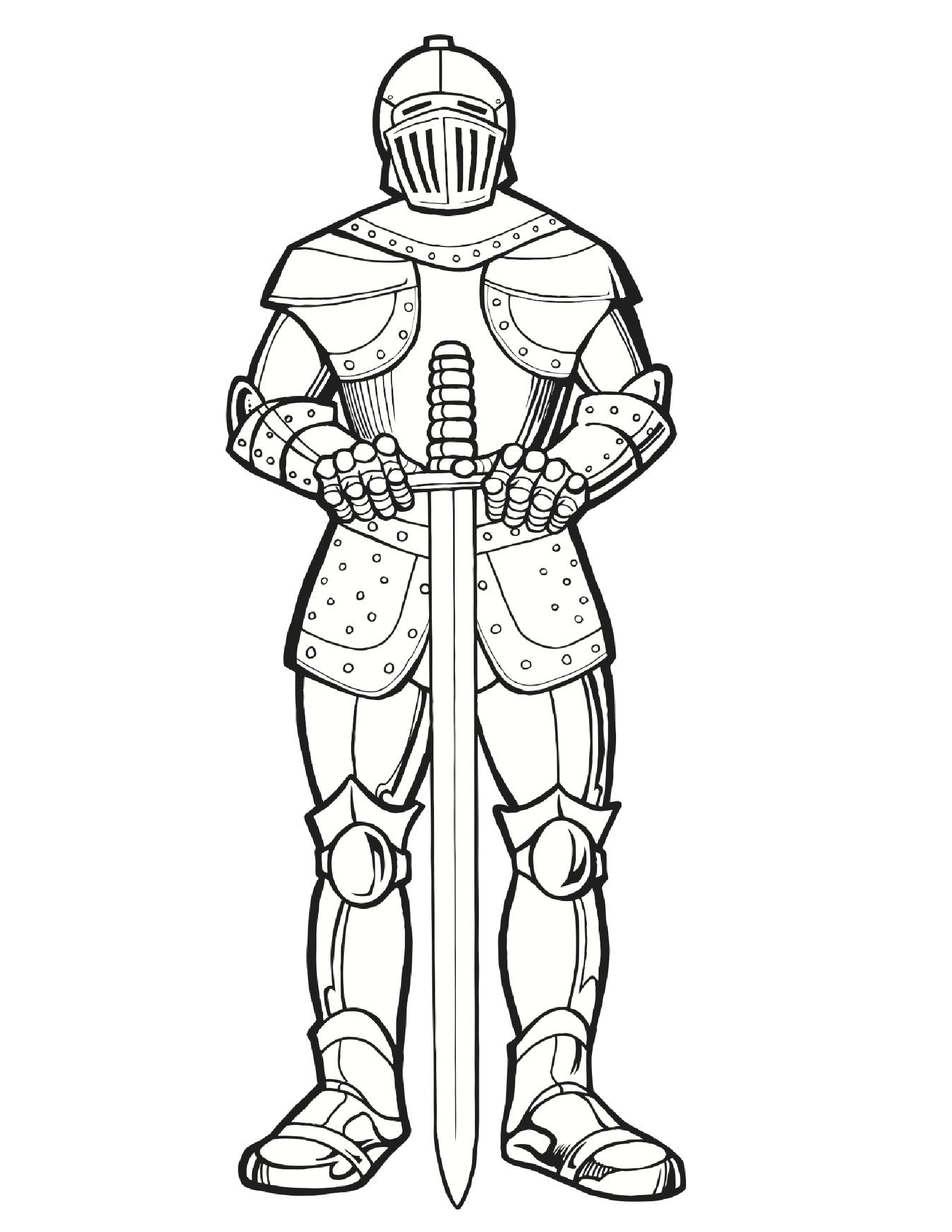 knight colouring page fairy coloring