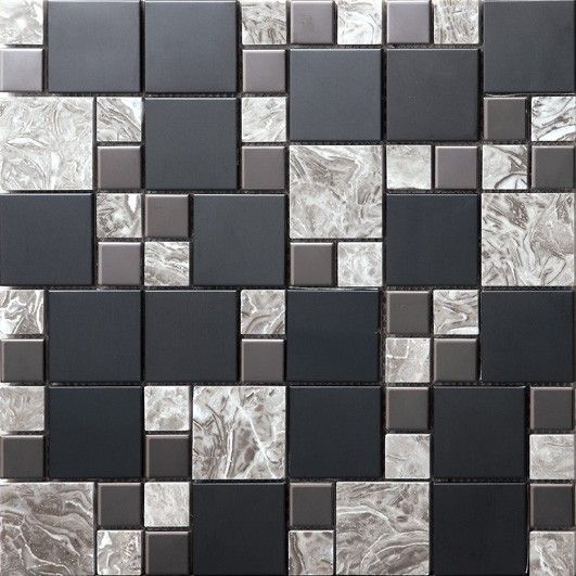 0sa073 Stainless Steel Marble Mosaic Tiles Marble Mosaic