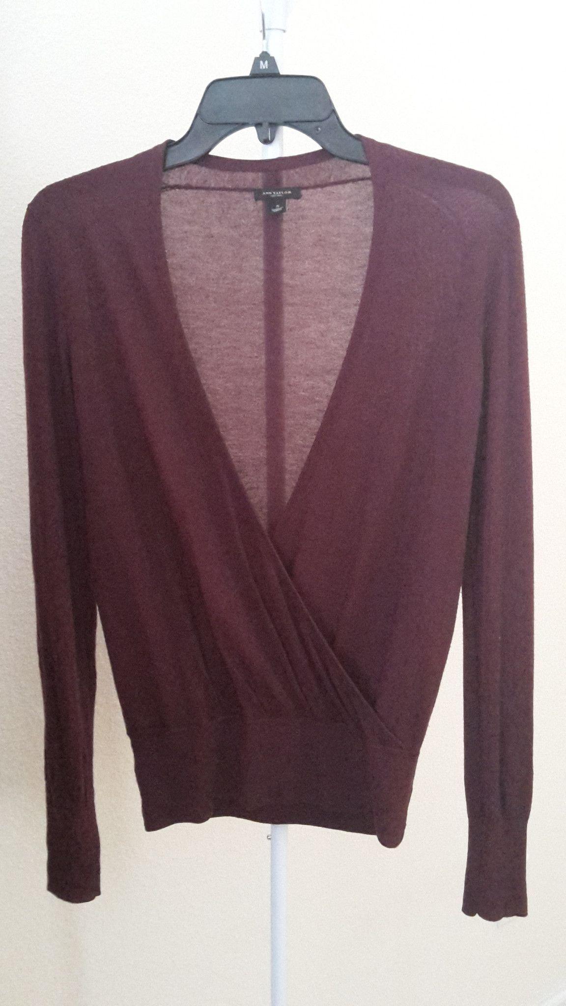 Ann Taylor burgundy wrap sweater | Three 33 Don't sweater it ...