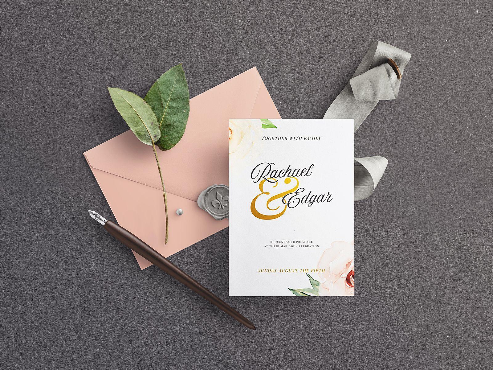 Freebie Wedding Stationery Mockup Set With Images Stationery